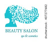 logo for beauty salon with...   Shutterstock .eps vector #407277682