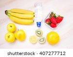 harvest juicy fruit and berries.... | Shutterstock . vector #407277712