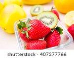harvest juicy fruit and berries.... | Shutterstock . vector #407277766
