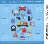 car service infographics with... | Shutterstock .eps vector #407278408