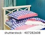 colorful pillow headboard | Shutterstock . vector #407282608