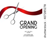 grand opening poster mock up... | Shutterstock .eps vector #407285278