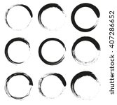 vector brush circles set | Shutterstock .eps vector #407286652
