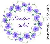 Floral Frame  Wreath. Season...