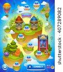 game map. vector illustration. | Shutterstock .eps vector #407289082