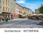 lviv  ukraine   august 3  2015  ... | Shutterstock . vector #407289406