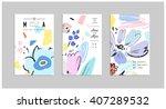 set of creative universal... | Shutterstock .eps vector #407289532