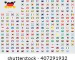 world flag illustrations in the ... | Shutterstock .eps vector #407291932