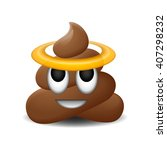 emoji of holy shit with smiley... | Shutterstock .eps vector #407298232