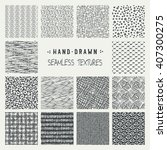 set of hand drawn marker and... | Shutterstock .eps vector #407300275