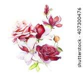 bouquet of summer flowers ... | Shutterstock . vector #407300476