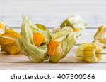 close up of golden berries on a ... | Shutterstock . vector #407300566
