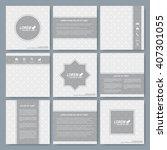 modern vector templates for... | Shutterstock .eps vector #407301055