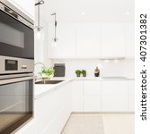 stylish kitchen interior | Shutterstock . vector #407301382