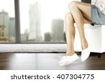decoration of woman legs and... | Shutterstock . vector #407304775