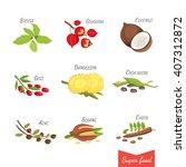 set of vector cartoon... | Shutterstock .eps vector #407312872