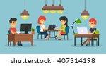 people work in office design... | Shutterstock .eps vector #407314198