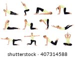 different set of exercises  | Shutterstock . vector #407314588