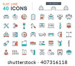 set vector line icons car... | Shutterstock .eps vector #407316118