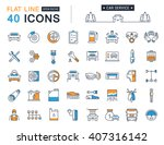 set vector line icons with open ... | Shutterstock .eps vector #407316142
