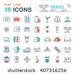 set vector line icons in flat...   Shutterstock .eps vector #407316256