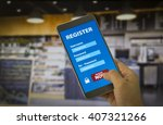 register membership application ... | Shutterstock . vector #407321266