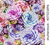 begonias flowers. seamless... | Shutterstock . vector #407321896
