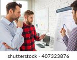 web designers standing at... | Shutterstock . vector #407323876