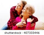 senior woman with granddaughter ... | Shutterstock . vector #407333446