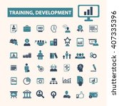 training development icons  | Shutterstock .eps vector #407335396