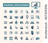 training development icons  | Shutterstock .eps vector #407335396