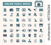 online video  media icons  | Shutterstock .eps vector #407336266