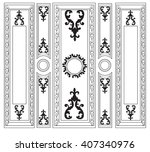 decorative damask ornamented... | Shutterstock .eps vector #407340976