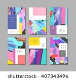 set of artistic creative... | Shutterstock .eps vector #407343496