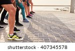 cropped shot of young athletes... | Shutterstock . vector #407345578