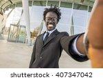black young attractive...   Shutterstock . vector #407347042