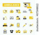 ambulance icons  | Shutterstock .eps vector #407348812