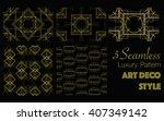 5 seamless pattern in art deco... | Shutterstock .eps vector #407349142