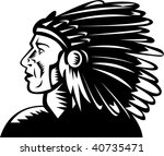 illustration of a native... | Shutterstock .eps vector #40735471