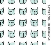 seamless cute pattern with... | Shutterstock .eps vector #407356198