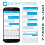 smart phone chatting sms... | Shutterstock .eps vector #407358205