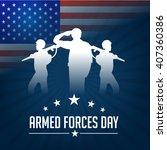 vector illustration of armed... | Shutterstock .eps vector #407360386