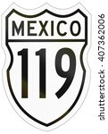 route shield of the mexican... | Shutterstock . vector #407362006