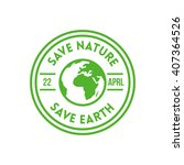 earth day design concept.... | Shutterstock .eps vector #407364526