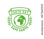 earth day design concept.... | Shutterstock .eps vector #407364535