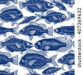freshwater fish endless vector... | Shutterstock .eps vector #407369632
