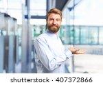 blond man. happy expression | Shutterstock . vector #407372866