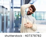 young crazy man happy expression | Shutterstock . vector #407378782