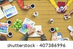multiethnic designer... | Shutterstock . vector #407386996