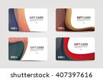 a set of gift and discount... | Shutterstock .eps vector #407397616